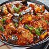 Eggplant beef stew photo